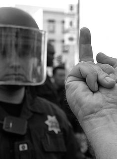 Middle finger for the new amerikkan police state