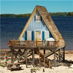 beach house-dollhouse; Get-A-Way Chalet by Houseworks