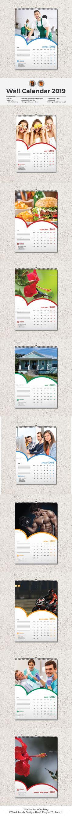 7 best Calendar 2019, Wall Calendar, Desk Calendar images on