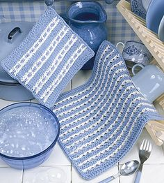 Knit Dishcloth & Pot Holder Pattern ePattern