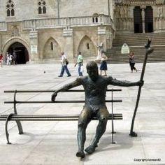 The resting pilgrim in Burgos. Camino de Santiago #compostela