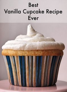 Quite simply the best vanilla cupcake recipe ever. The secret? More vanilla than most recipes call for. Follow these easy steps (with photos) for one dozen large or two dozen medium cupcakes.