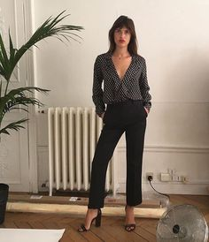 Jeanne Damas Women's fashion for summer. casual fashion for work. Striped shirts, and dresses for street style. Date night outfit ideas for summer. Wearing black in summer. Boho California street style. Parisian chic style.