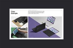 Contents developments & Guideline design for 'Samsung PC Contents Playbook'         삼성의 4가지 PC 브랜드인 Premium Laptop, Laptop, Gaming, Chromebook 의 대고객 커뮤니케이션을 위한 컨텐츠 가이드라인을 개발하였습니다. 각 카테고리 별 핵심 타겟의 Tone & Mood를 설정하고, 그에 적합한 컨텐츠와 이미지 사용 룰을 정의하였습니다. 본 가이드를 통해 삼성의 다양한 PC 브랜드가 고객의 언어로 소통하고, 각각의 개성을 어필할 수 있는 언어적, 시각적 체계를 구축하였습니다.  #SAMSUNG #VEIG #GUIDELINE #GRAPHICDESIGN #BRANDING #LAYOUT #LAPTOP #BRANDIDENTITY #EDITORIAL Design Social, Ppt Design, Layout Design, Graphic Design, Portfolio Web, Portfolio Layout, Portfolio Design, Lookbook Design, Logos Retro