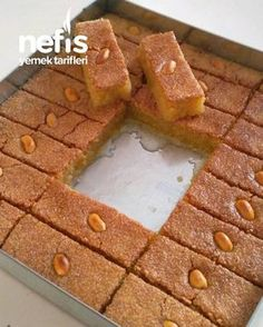Image may contain: dessert and food Fast Easy Dinner, Fast Dinner Recipes, Saffron Cake, Turkish Sweets, Sweet Little Things, Cookery Books, Sweet Sauce, Breakfast Items, Arabic Food