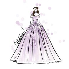 Sparkling in lilac. #CateOdson #FashionIllustration