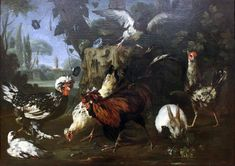 1697 Tamm Gefluegel anagoria - Category:Franz Werner von Tamm - Wikimedia Commons Wikimedia Commons, Poultry, Birds, Fine Art, Artwork, Rabbits, Painting, Artworks, Hamburg
