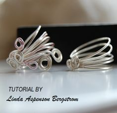 Linda Bergstrom on JewelryLessons  Binding with half round   tutorial on making a ring collection