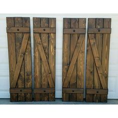 2 sets Z bar shutters going to Illinois. Additional clavos will be added after installation! Wood shutters, exterior shutters