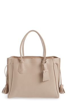 Free shipping and returns on Longchamp 'Penelope' Tassel Drawstring Leather Tote…$935