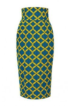 Printed Cotton Pencil Skirt by Stella Jean Now Available on Moda Operandi . Love this style of skirt in another African print! African Print Skirt, African Print Dresses, African Print Fashion, Africa Fashion, African Fabric, Ethnic Fashion, African Dress, Look Fashion, Fashion Prints
