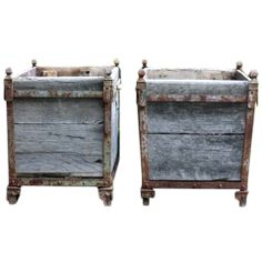 A Pair of French 19c Wooden Versailles Planters