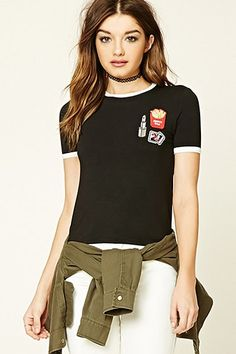 Patch Graphic Ringer Tee