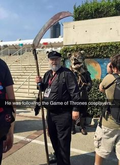 I'm more concerned with the Robb Stark Cosplay behind him