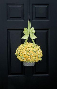 Outdoor Wreath Alternative Yellow Wreath by EverBloomingOriginal