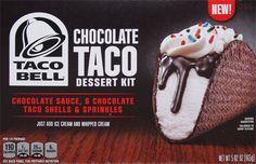 On Second Scoop: Ice Cream Reviews: Taco Bell Dessert Kits Cinnamon Nachos & Chocolate Taco