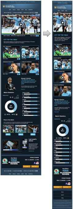 Responsive Email Design from Manchester City FC