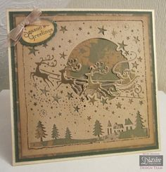 Crafters Companion Create a Card Christmas Die - Over The Rooftops