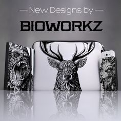 Check out our new designs by BioWorkZ - again they got super cool abstract animal prints looking great on our handmade cases. check out their new design on www.caseable.com