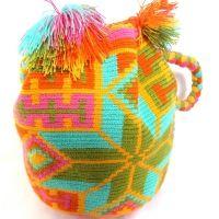 Wayuu Mochila Handbag Short Handel pastel dream