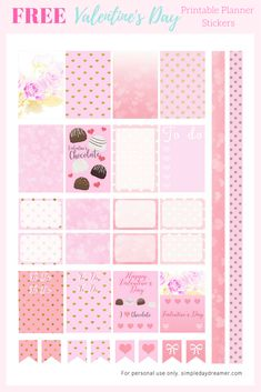 FREE Valentine's Day Printable Planner Stickers #planner