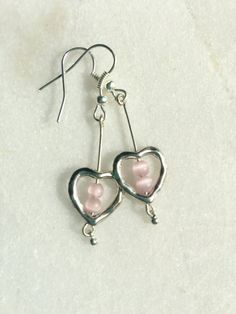 Heart Earrings Love Beach Earrings  The darling floating hearts on the bottom give these earrings th #galveston #gulfcoasttreasure