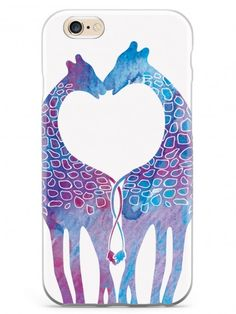 Giraffe Love Pattern Case for iPhone 6 & 6s