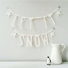 A Little Lovely Company Letter Garland White