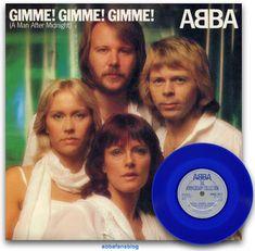 "Abba single ""Gimme! Gimme! Gimme! (A Man After Midnight)"" on blue vinyl #Abba #Vinyl #GimmeGimmeGimme Uk Charts, After Midnight, About Me Blog, Fans, Music, Number 3, Blue, Colors, Muziek"
