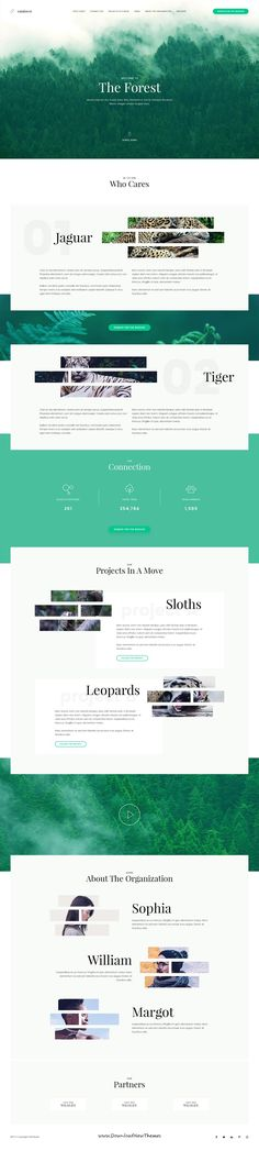 Rainforest is clean and modern design #PSD template for onepage #environment agency website to live preview & download click on Visit