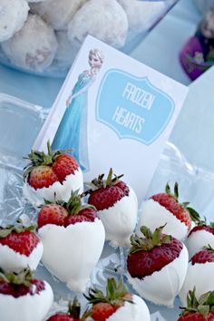 Frozen Hearts (Strawberries dipped in icing? White chocolate?