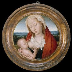 Hans Memling  (Seligenstadt, active by 1465–died 1494 Bruges) | Virgin and Child, ca 1475–80, oil on wood. The Metropolitan Museum of Art, NY.