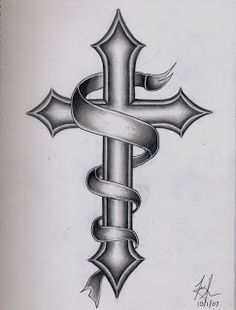 Great Cross Tattoo Idea