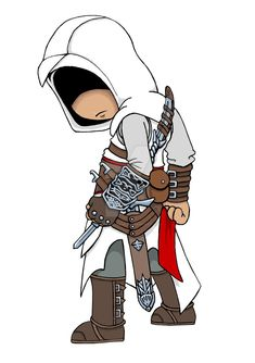 """Altair: Assassins Creed Chibi"" by dark-lil-soul on DeviantArt.com."