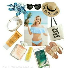 ^beach look^ by bianca-maria-poroschianu on Polyvore featuring polyvore, fashion, style and clothing