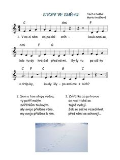 Kids Songs, Sheet Music, Kindergarten, Preschool, Winter, Ideas, Book, Winter Time, Nursery Songs