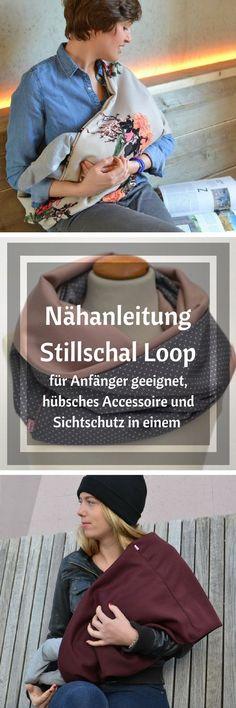 Tolle Nähanleitung für einen sehr schönen Loopschal, der gleichzeitig als Stillschal fungieren kann. Die Anleitung ist einfach und kann auch von Nähanfängern umgesetzt werden :) #nähen #nähanfänger #nähenmachtglücklich #handmade #diy #affiliate