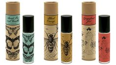 eco-friendly label packaging on lip balm | love the vintage design!