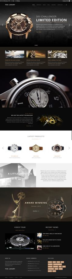 The Luxury - Dark/Light Responsive WordPress Theme on Behance