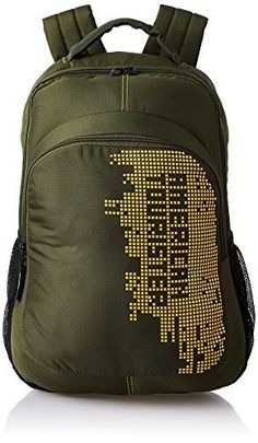 Buy #4: American Tourister 27 Ltrs  Olive Casual Backpack (AMT STRATOS BP-04 OLIVE/YELLOW)