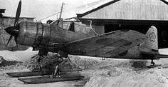 Ki-51 with skis