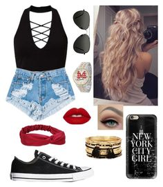 """""""Lucky Leon's"""" by elliethemunchkin on Polyvore featuring beauty, Miss Selfridge, Levi's, Casetify, Lime Crime, Converse, Topshop, Forever 21 and Disney"""