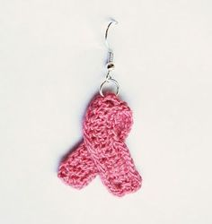 Free Crochet Pattern: Awareness Ribbon Earrings          Nearly all of us have someone in our lives who have battled cancer or other severe illnesses. Personally, a very good friend of my family was