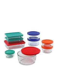 Pyrex 18-Piece Color Lid Storage Set