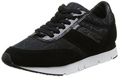 Calvin Klein Jeans Womens Black Tea CK Logo Sneakers-UK 6 - Brought to you by Avarsha.com