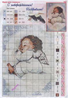 Point de croix *<3* Cross stitch Anjinho