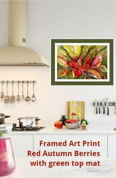 Color your kitchen with beautiful framed artwork from original paintings by Sabina von Arx, Choose Fruit, Flowers or an inspiring landscape to energize your kitchen and give you a well being! Framed Art Prints, Framed Artwork, Unique Paintings, Original Paintings, Vegetable Painting, Kitchen Artwork, Soft Autumn, Green Tops, Fine Art America