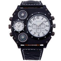 14.50$  Buy here - http://ali4hi.shopchina.info/go.php?t=32663795873 - Oulm Authentic Brand Tag Watches Male Quality Japan Movt Quartz Watch Compass Thermometer Decoration Relogios Masculinos 2016  #bestbuy