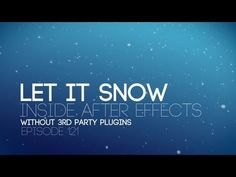 This week we learn to create snow inside after effects without 3rd party plugins. We also tune up the performance of adobe cs5, edit online, learn about cdn'...