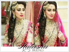 Ainy Jaffri's baraat look.. makeup by Natasha Salon